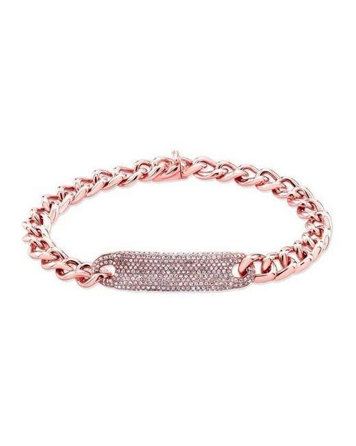Anne Sisteron - Multicolor 14kt Rose Gold Diamond Luxe Id Bracelet - Lyst