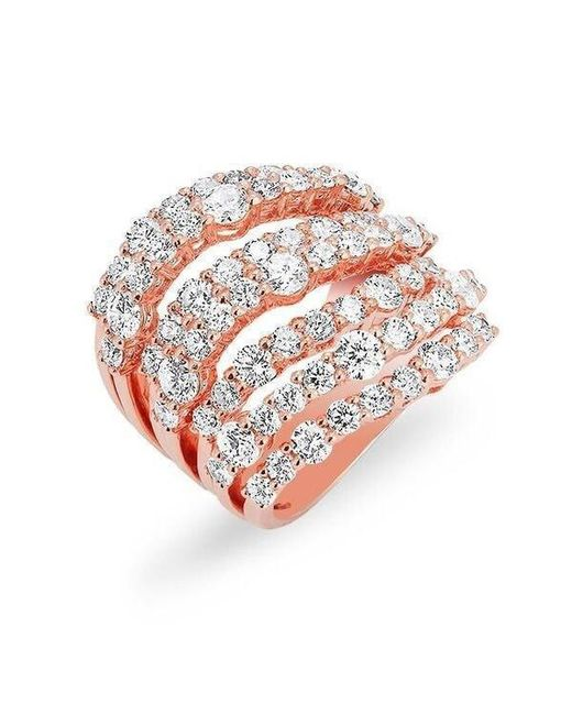 Anne Sisteron | Multicolor 14kt Rose Gold Diamond Rock Ring | Lyst