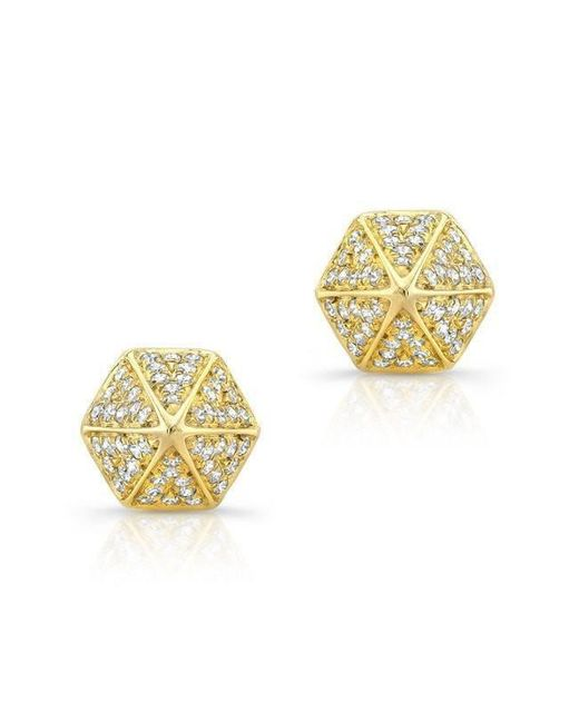 Anne Sisteron - Metallic 14kt Yellow Gold Diamond Olympia Studs - Lyst