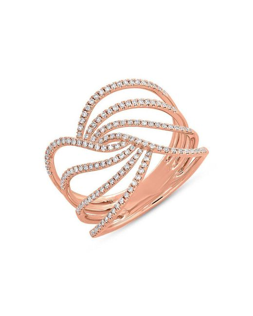 Anne Sisteron - Multicolor 14kt Rose Gold Diamond Willow Ring - Lyst
