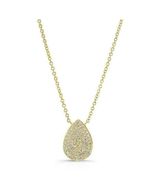 Anne Sisteron - Metallic 14kt Yellow Gold Diamond Medium Pear Shaped Necklace - Lyst