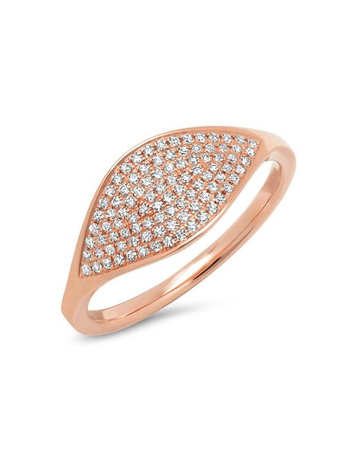 Anne Sisteron - Metallic 14kt Rose Gold Diamond Alissa Ring - Lyst