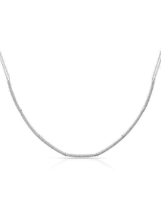 Anne Sisteron - Metallic 14kt White Gold Diamond Abby Choker Necklace - Lyst