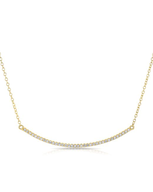 Anne Sisteron | Metallic 14kt Yellow Gold Diamond Lash Crescent Necklace | Lyst