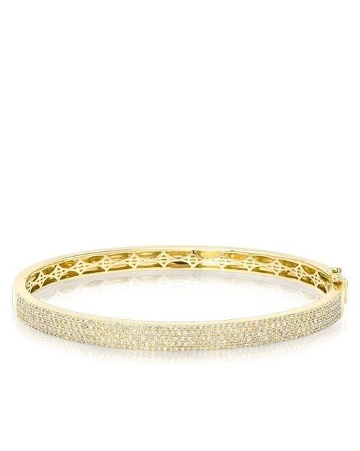 Anne Sisteron - Multicolor 14kt White Gold Half Pave Diamond Bangle - Lyst