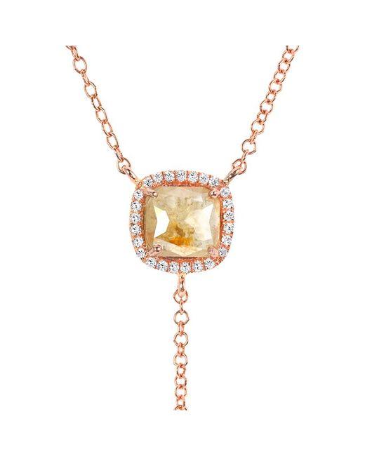 Anne Sisteron - Metallic 14kt Rose Gold Raw Diamond Flirt Lariat Necklace - Lyst