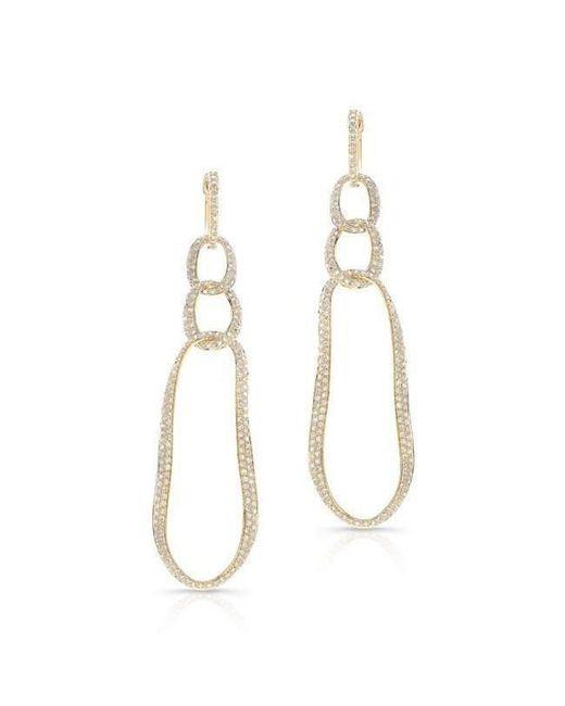Anne Sisteron - Metallic 14kt Yellow Gold Diamond Chain Link Earrings - Lyst