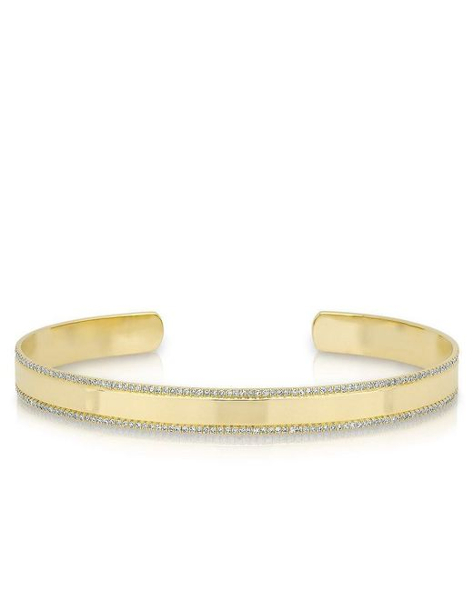 Anne Sisteron - Multicolor 14kt Yellow Gold Diamond Trimmed Cuff - Lyst
