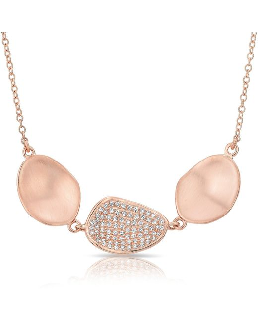 Anne Sisteron | Pink 14kt Rose Gold Diamond Trios Petal Necklace | Lyst