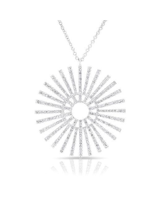 Anne Sisteron | Metallic 14kt White Gold Diamond Sun Rays Necklace | Lyst