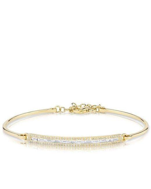 Anne Sisteron - Metallic 14kt Yellow Gold Olivia Baguette Bracelet - Lyst