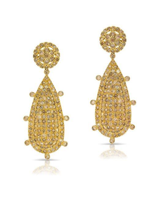 Anne Sisteron - Metallic 14kt Yellow Gold Diamond Empire Earrings - Lyst