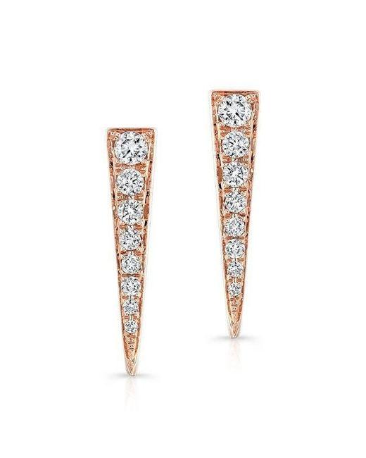 Anne Sisteron - Metallic 14kt Rose Gold Diamond Dagger Earrings - Lyst