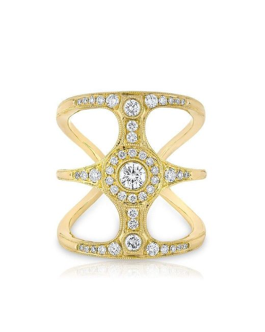 Anne Sisteron | Metallic 14kt Yellow Gold Diamond Ophelia Ring | Lyst