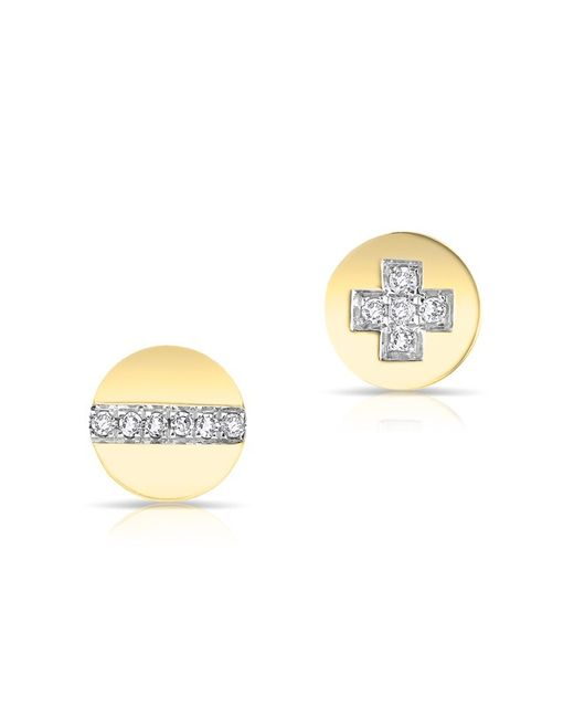 Anne Sisteron - Metallic 14kt Yellow Gold Diamond Reverse Hardware Stud Earrings - Lyst