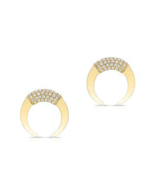 Anne Sisteron - Metallic 14kt Yellow Gold Diamond Mini Taureau Stud Earrings - Lyst