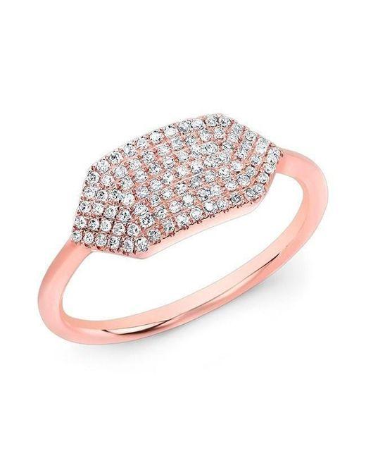 Anne Sisteron - Metallic 14kt Rose Gold Diamond Buckle Ring - Lyst
