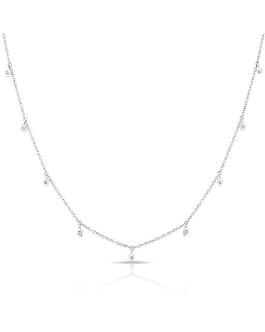 Anne Sisteron - Metallic 14kt White Gold Diamond Droplets Necklace - Lyst
