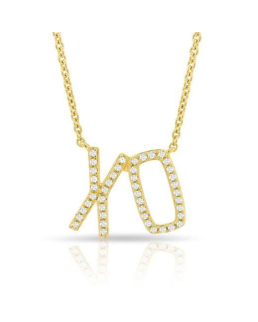 Anne Sisteron - Metallic 14kt Yellow Gold Diamond Xo Necklace - Lyst