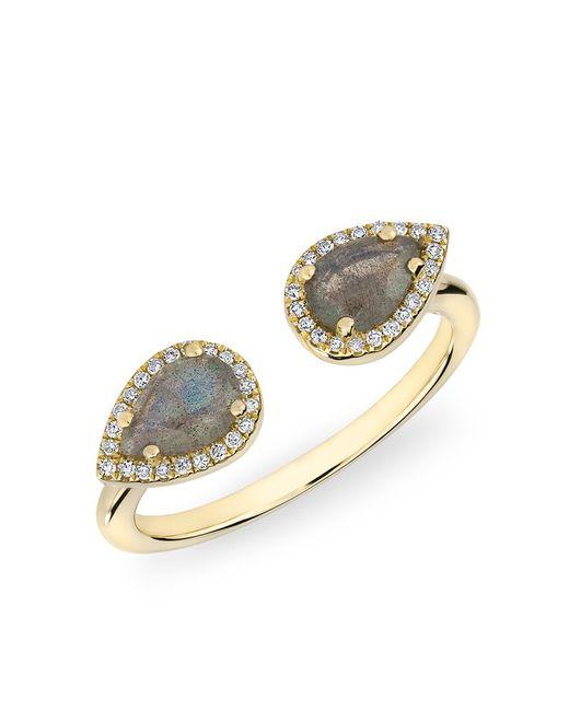 Anne Sisteron | Metallic 14kt Yellow Gold Labradorite Diamond Throne Ring | Lyst