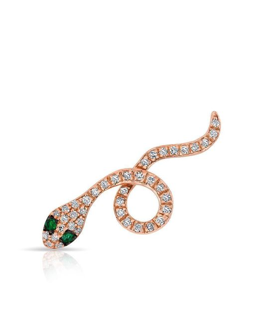 Anne Sisteron - Multicolor 14kt Rose Gold Emerald Diamond Snake Ear Climber - Lyst