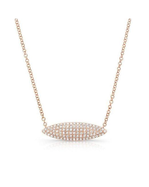 Anne Sisteron - Metallic 14kt Rose Gold Diamond Alana Necklace - Lyst