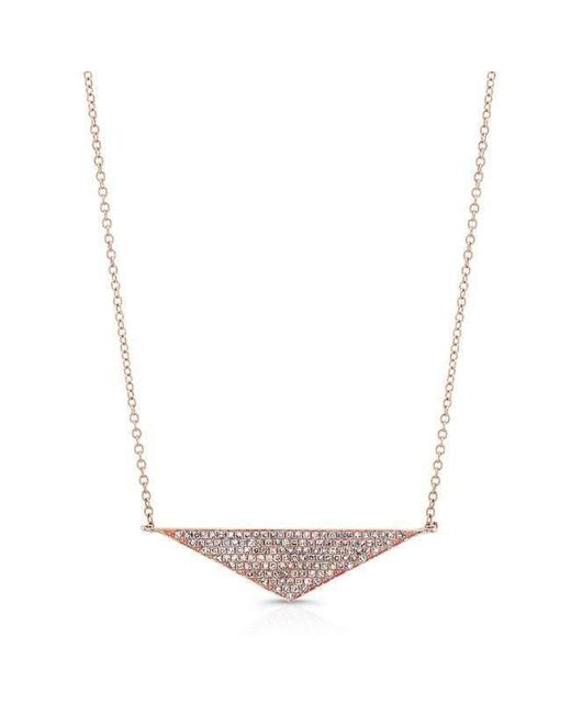 Anne Sisteron | Metallic 14kt Rose Gold Diamond Golden Triangle Necklace | Lyst