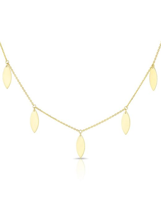 Anne Sisteron | Metallic 14kt Solid Yellow Gold Drops Necklace | Lyst