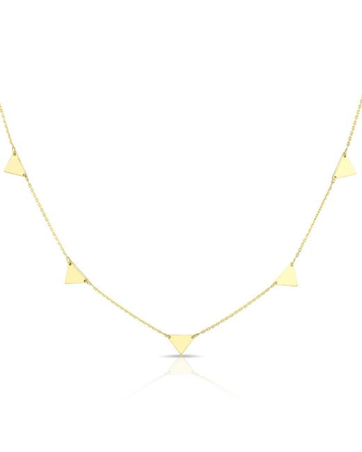 Anne Sisteron - Metallic 14kt Solid Yellow Gold Triangles Necklace - Lyst