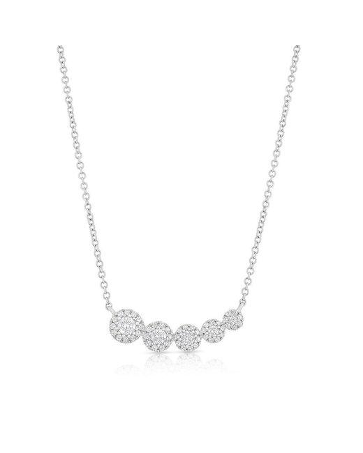 Anne Sisteron - Multicolor 14kt Rose Gold Diamond Francesca Necklace - Lyst
