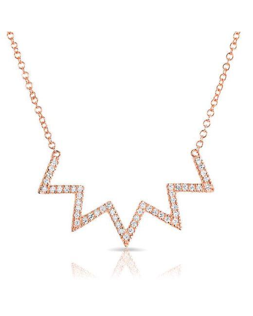 Anne Sisteron - Multicolor 14kt Rose Gold Diamond Chevron Crown Necklace - Lyst