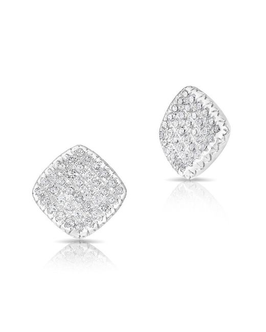 Anne Sisteron - Multicolor 14kt White Gold Diamond Whirl Stud Earrings - Lyst