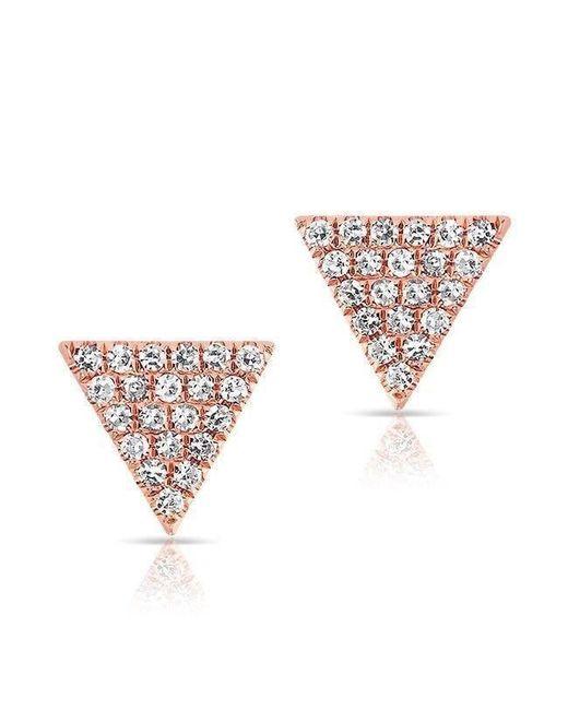 Anne Sisteron | Multicolor 14kt Rose Gold Diamond Small Triangle Emma Stud Earrings | Lyst
