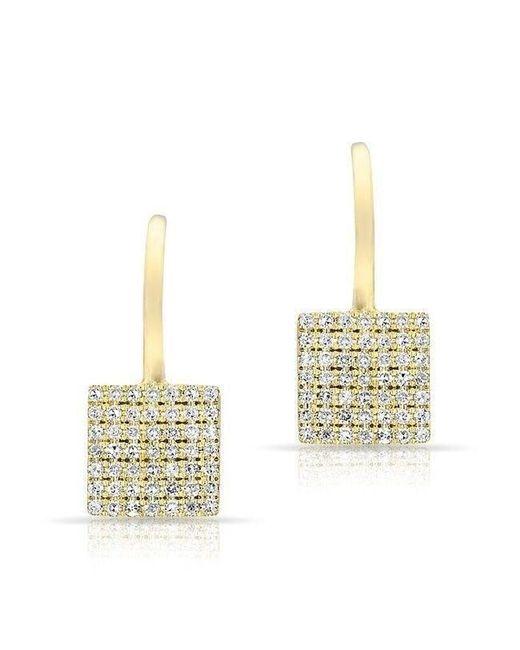 Anne Sisteron - Multicolor 14kt White Gold Diamond Square Wireback Earrings - Lyst