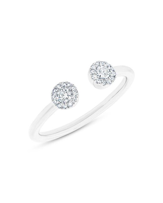 Anne Sisteron | 14kt White Gold Diamond Open Sally Ring | Lyst