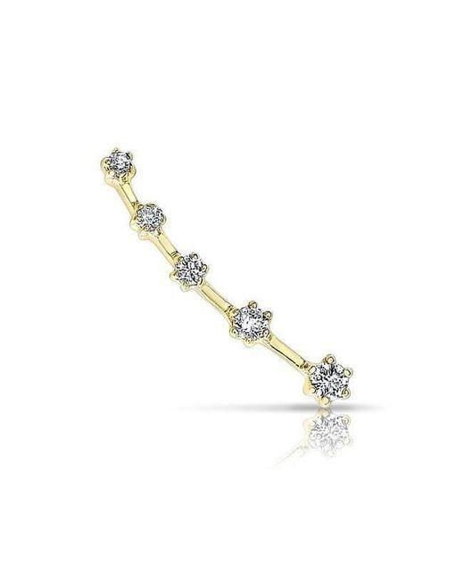 Anne Sisteron - Metallic 14kt Yellow Gold Diamond Organic Ear Climber - Lyst