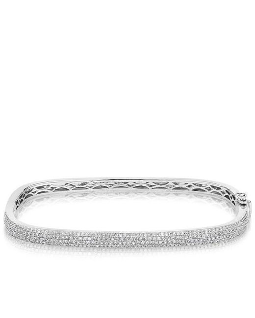 Akillis 18kt White Gold Half Diamond Set Python Bracelet kc216