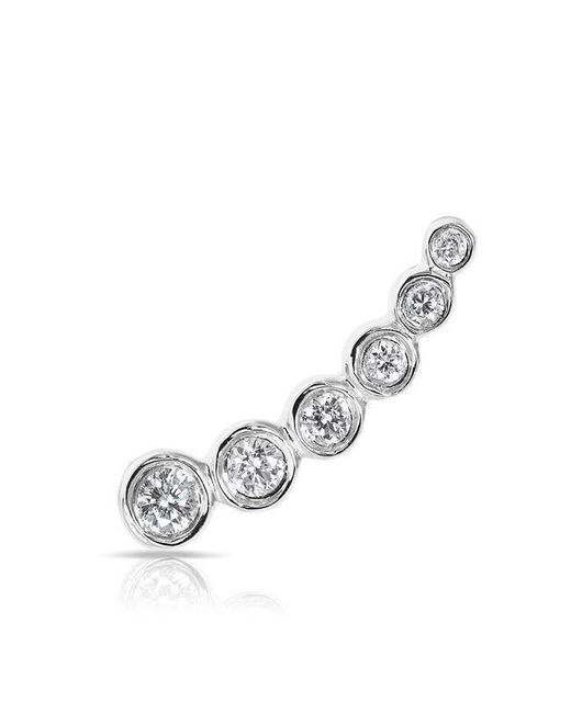 Anne Sisteron - Metallic 14kt White Gold Diamond Mini Shooting Star Ear Climber - Lyst