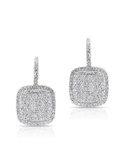 Anne Sisteron - Multicolor 14kt White Gold Diamond Cushion Earrings - Lyst