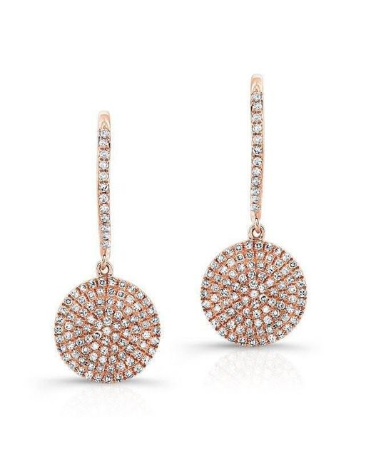 Anne Sisteron - Multicolor 14kt Rose Gold All Diamond Disc Earrings - Lyst