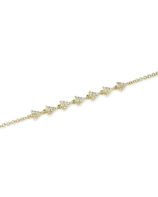 Anne Sisteron - Metallic 14kt Yellow Gold Diamond Triangle Totem Bracelet - Lyst