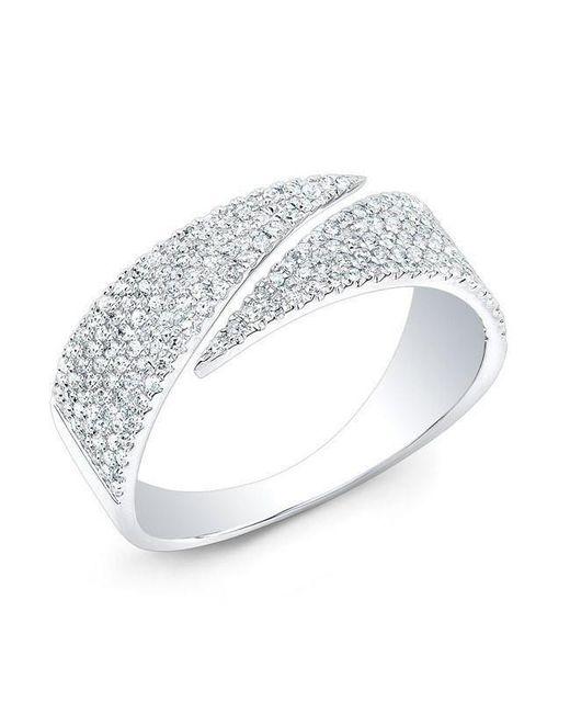 Anne Sisteron - Metallic 14kt White Gold Diamond Full Spike Wrap Ring - Lyst