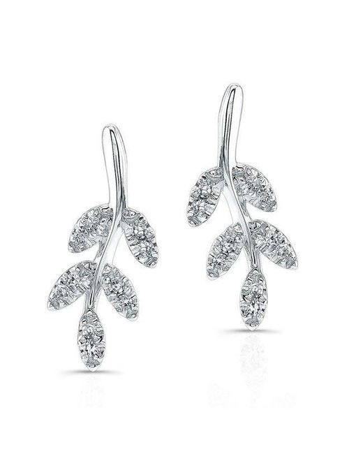 Anne Sisteron - Multicolor 14kt White Gold Diamond Ivy Stud Earrings - Lyst