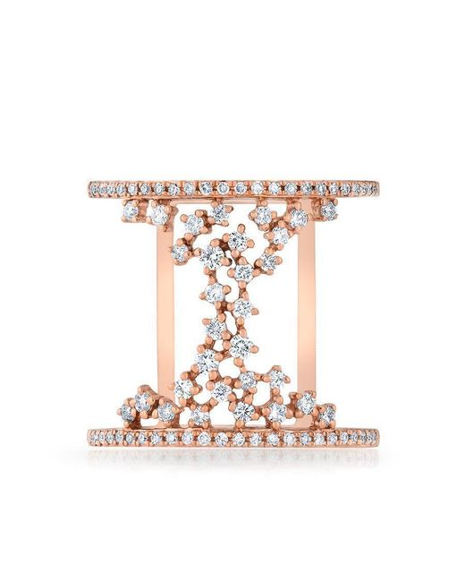 Anne Sisteron - Multicolor 14kt Rose Gold Diamond Lace Lana Ring - Lyst