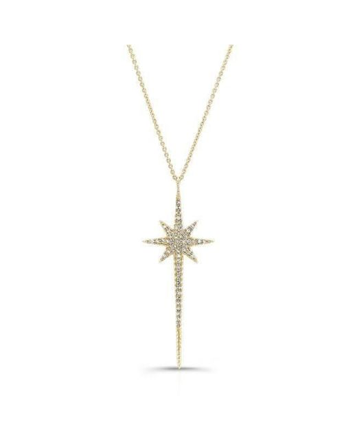 Anne Sisteron - Metallic 14kt Yellow Gold Diamond Star Wand Necklace - Lyst