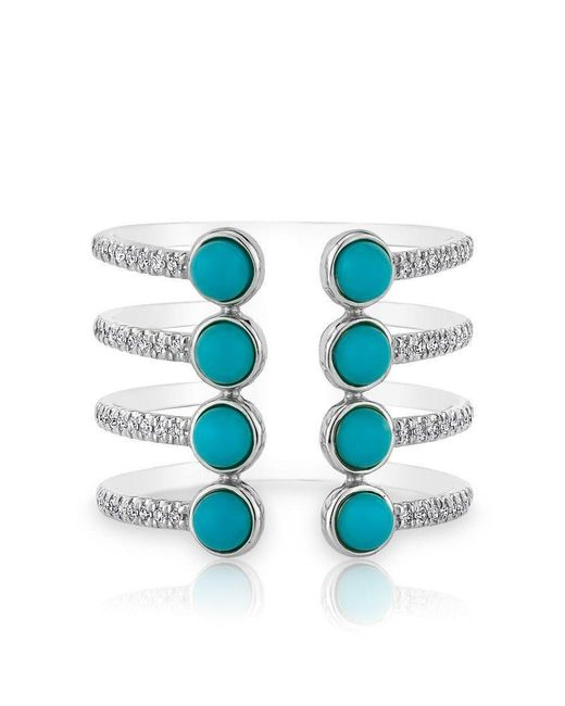 Anne Sisteron - Blue 14kt White Gold Turquoise Diamond Electric Ring - Lyst