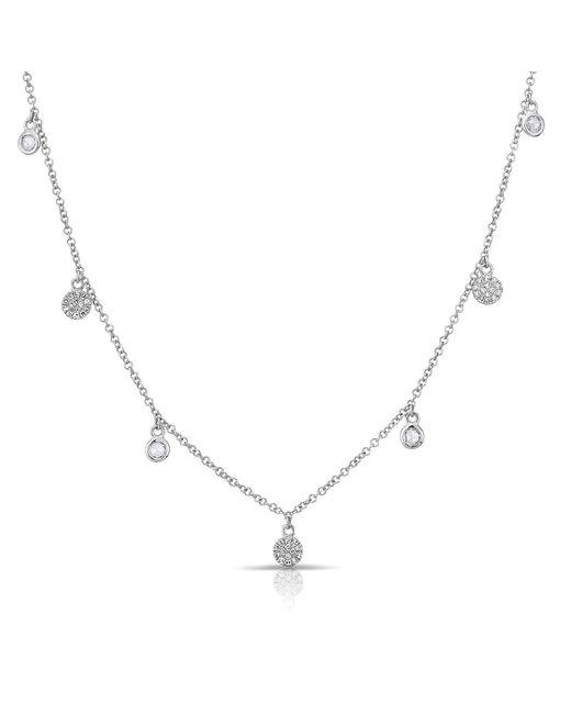 Anne Sisteron - Metallic 14kt White Gold Diamond Mini Disc Droplets Necklace - Lyst