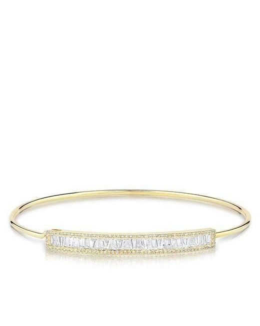 Anne Sisteron - Metallic 14kt Yellow Gold Diamond Baguette Latch Bracelet - Lyst