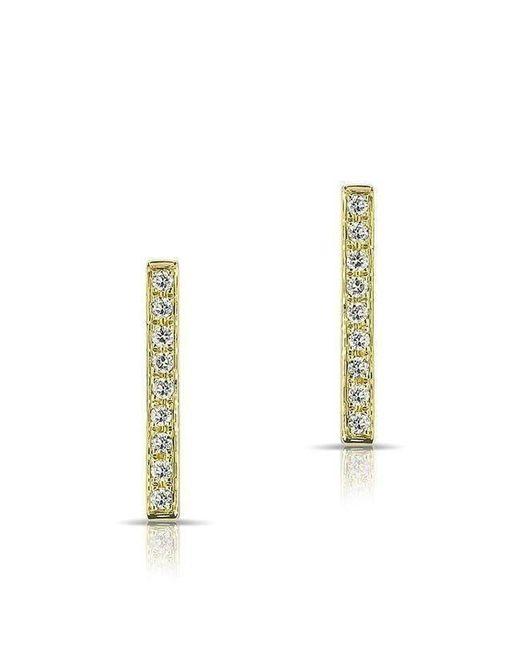Anne Sisteron - Metallic 14kt Yellow Gold Diamond Bar Stud Earrings - Lyst