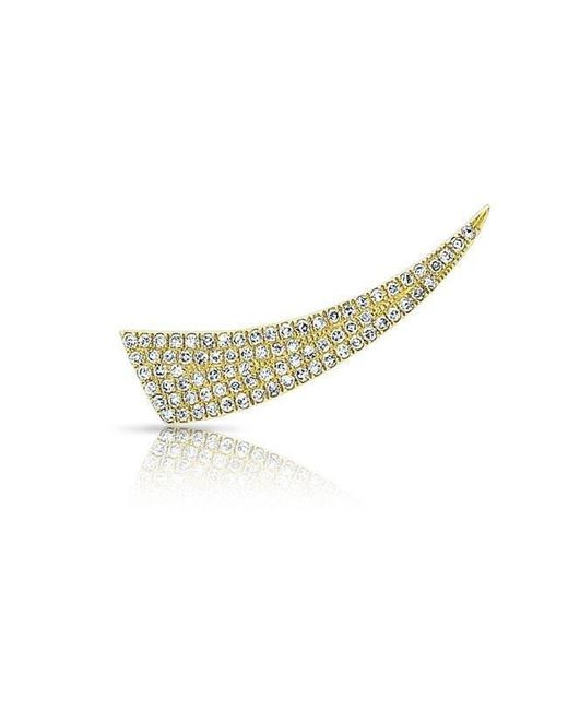 Anne Sisteron | Metallic 14kt Yellow Gold Diamond Horn Ear Climber | Lyst
